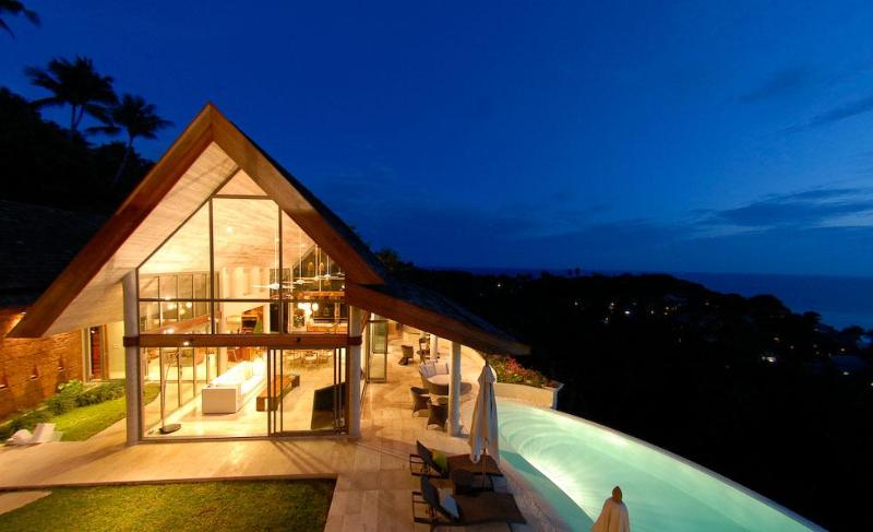 evening falls over samui - Villa Serendipity- Stunning Views to the Mainland - Koh Samui - rentals