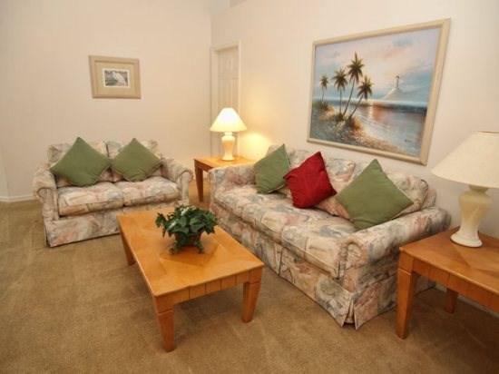 Living Area - FP4P407ED Beautiful 4 Bedroom Pool Home Perfect for Holidays - Orlando - rentals