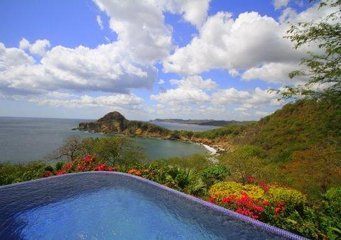 "View of the Pacific and ""Giant's Foot"" from your infinity pool - La Vista Nica - Sweeping Ocean Views of Nic. Coast - Tola - rentals"