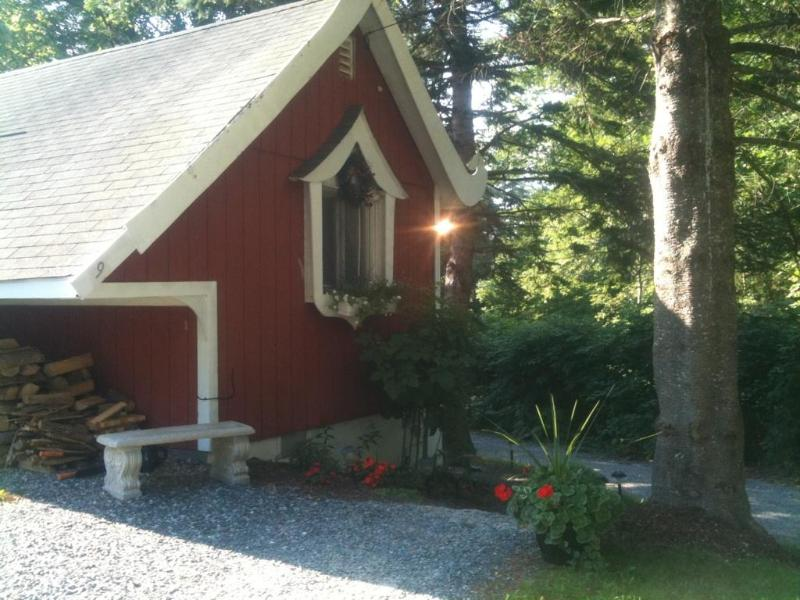 Front exterior - Charming renov 1 brm plus loft cabin  fireplace - Campton - rentals