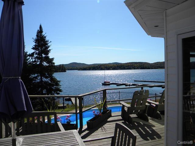 lakeview from deck - Magnificent Lakefront home Mt. Tremblant Region. - Mont Tremblant - rentals