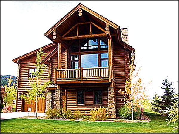 A Magnificent New Home that is filled with Natural Light, Fine Furnishings, Spacious Rooms - Brand New Immaculate Log Home  - Luxurious Quality - Huge Rooms (6183) - Jackson - rentals