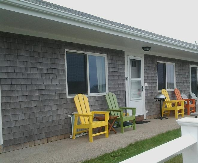 Front / Entrance to Condo - Condo: Ocean View Private Beach w Towels, Linens ! - North Truro - rentals
