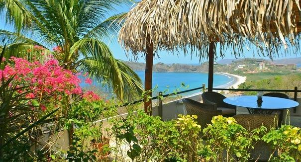 View from the deck - Casa Mega- Cliff Side Spanish Style Vacation Home - Playa Flamingo - rentals