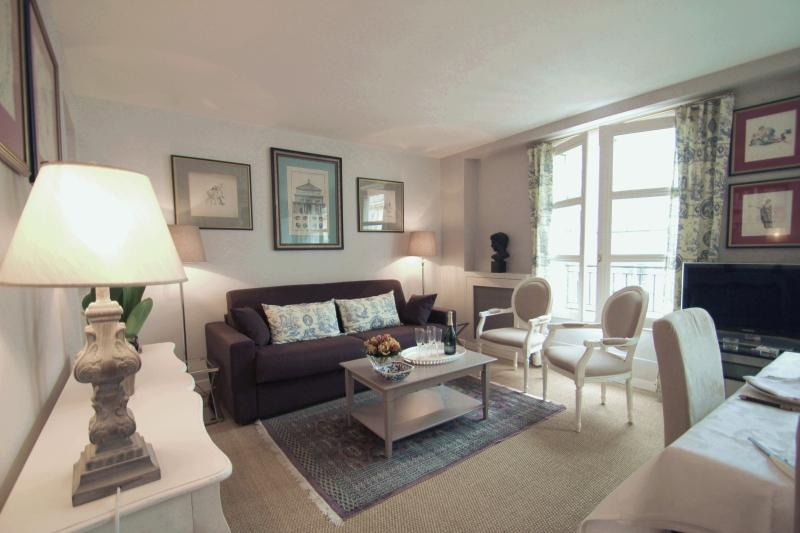 Living room, tastefully decorated. Apartment renovated & equipped in 2012. - Eiffel View from Parisian Vacation Rental - Paris - rentals
