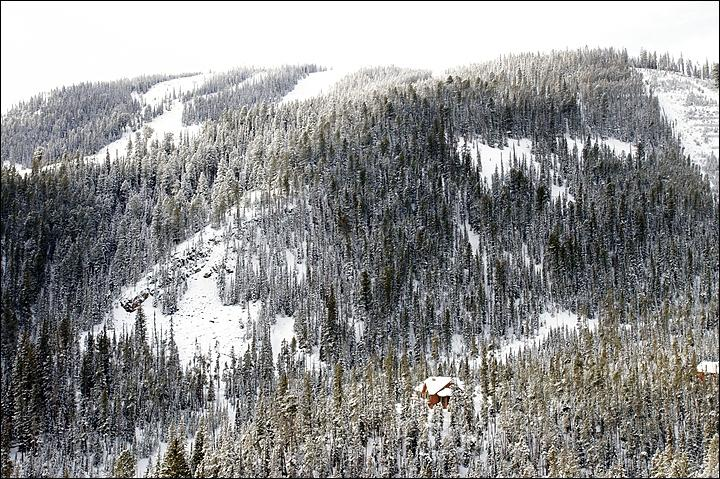 View of the home with Bighorn, Elk Park Ridge, & War Dance trails above. - Amazing Home in the Big Sky Base Area - Private Yet Convenient Location (1058) - Big Sky - rentals
