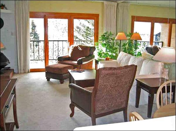 Living Room - Upscale, Rustic Two Level Condo - Perfect for a Small Family (1004) - Ketchum - rentals