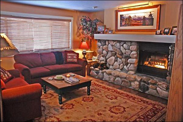 Spacious Living Room with Large Fireplace - Finely Furnished Residence - Perfect for a Family  (1008) - Ketchum - rentals