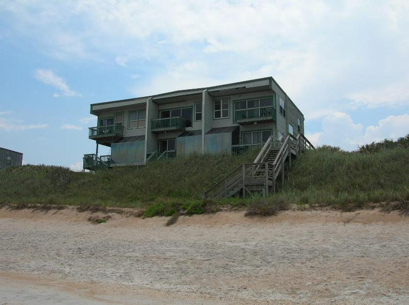 View of triplex from beach - Villano Rentals - Saint Augustine - rentals