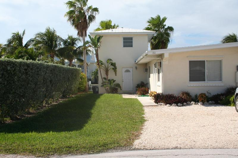 Front of house/parking - Dolphin Dreams, family friendly! #30A - Key Colony Beach - rentals