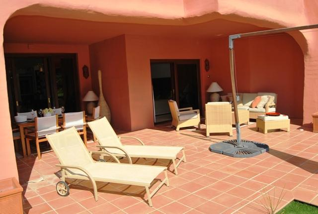 Chilling outdoors - Torre Bermeja Beach Luxury Grd. Floor Apartment - Estepona - rentals