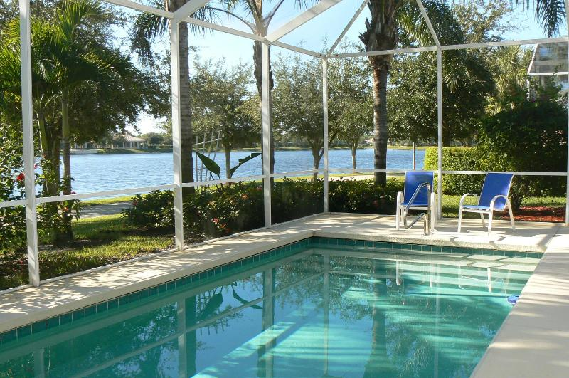 Heated Pool overlooking Lake - GORGEOUS POOL HOME ON LAKE - Naples - rentals