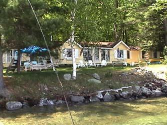 Cottage view from dock - Lake Winnipesaukee Cozy Romantic Cottage on Bear Island - Meredith - rentals