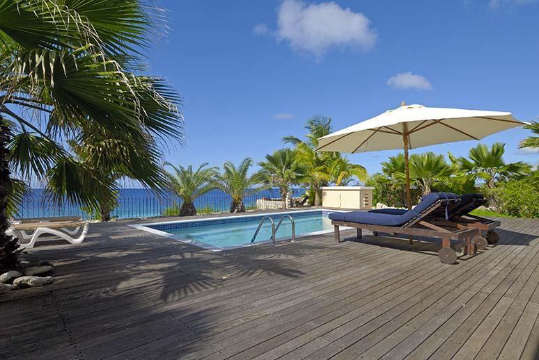 Pooldeck - Oceanfront private villa Caribbean Paradise - Bonaire - rentals