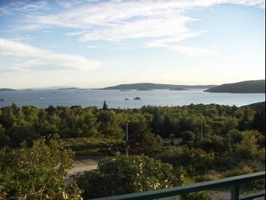 A1(3+2): terrace view - 5139  A1(3+2) - Seget Vranjica - Seget Vranjica - rentals