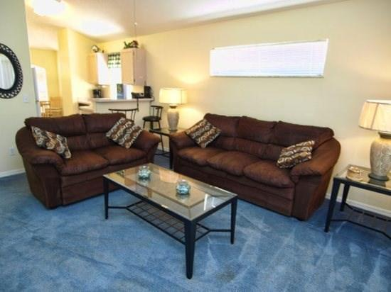 Living Area - SD3P2200MC 3 Bedroom Villa Equipped w/ Standard Amenities - Orlando - rentals