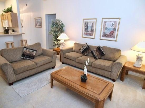 Living Area - PAW3P137PWP 3BR Family Friendly Townhome with a Pool - Orlando - rentals