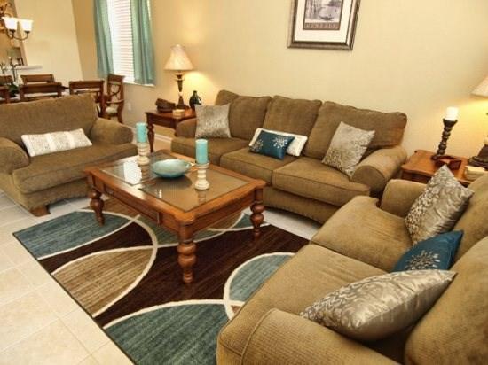 Living Area - WH6P7729TB 6 BR Villa Close to Major Orlando Attractions - Orlando - rentals