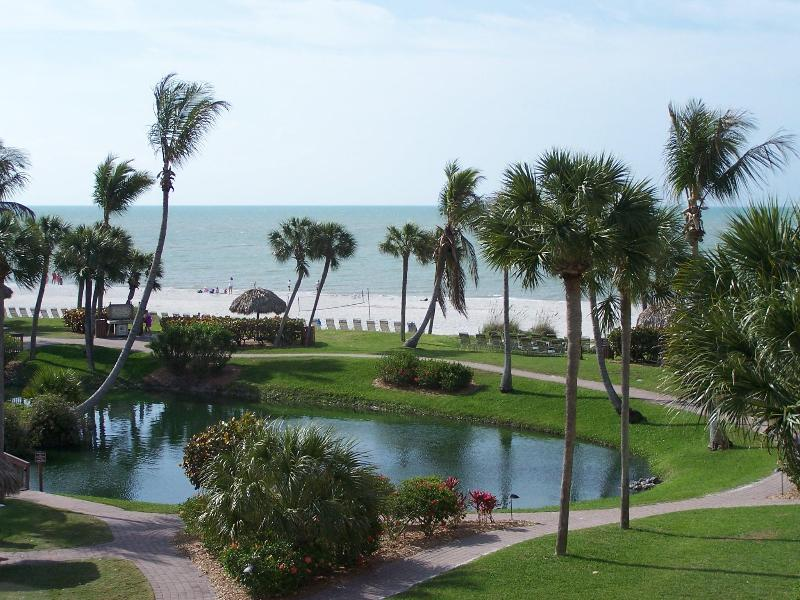 View of the Beach from our Living Room - Unique Expansive View of the Gulf of Mexico - B37 - Sanibel Island - rentals