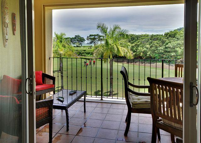 Terrace with golf course view. - Spectacular Ocean View Condo at Los Sueños! Pay 3 stay 4 nights! - Herradura - rentals