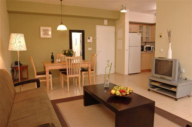 Living Room - One Bedroom Apt, 1 Minute Walk from the Beach! - Herzlia - rentals