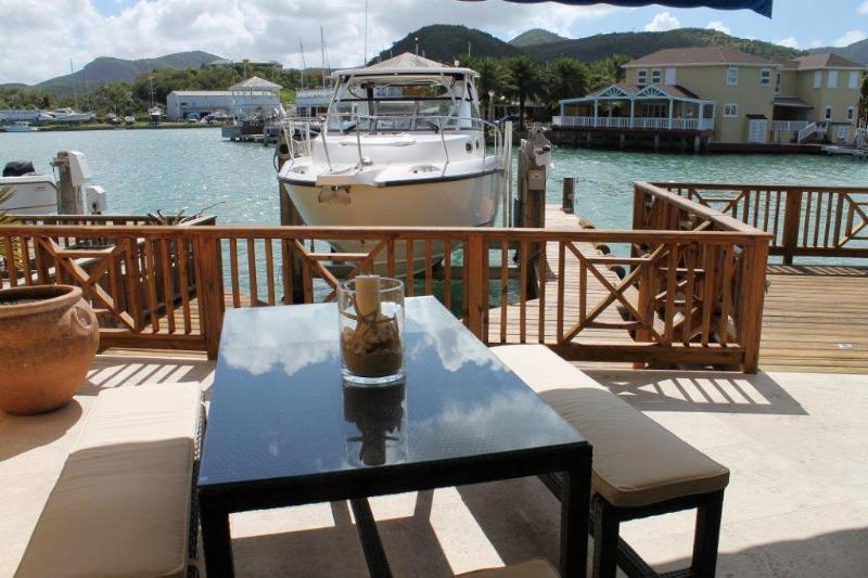 Deck - Luxurious villa, Harbour Lights, South Finger 220B - Jolly Harbour - rentals