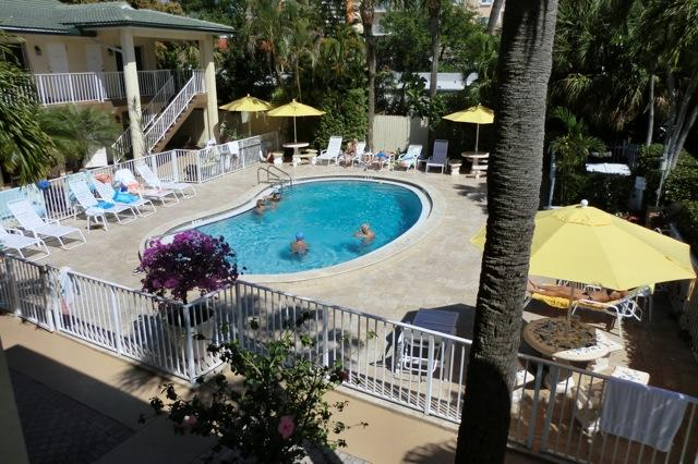 Balcony view of Beach Villas and tropical pool and deck - Beach Villas of Deerfield - Deerfield Beach - rentals