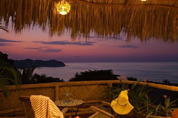 Casa Hermosa patio sunset - Casa Hermosa - Luxury Home (1 or 2 bedroom rental) - Sayulita - rentals