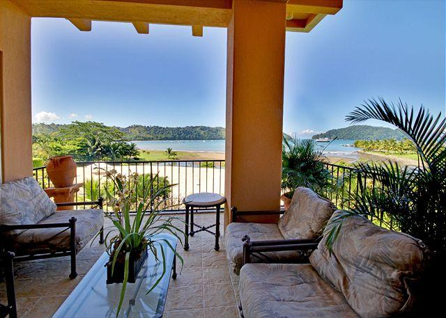 Terrace with amazing ocean view.  This unit has some of the best view at the resort. - Stay 7 Pay 5 nights! Luxury Ocean View Condo, Steps from Beach Club! - Herradura - rentals