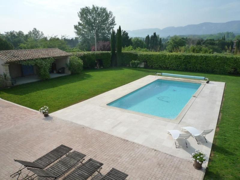 Piscine avec vue sur les Alpilles - Au Cèdre de Saint Rémy  maison d'hôtes - Saint-Remy-de-Provence - rentals