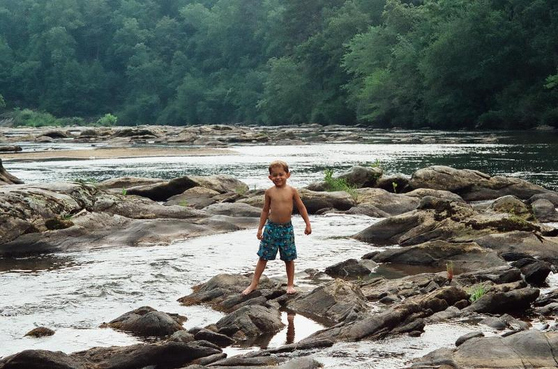 Playing on the rocks in the river - Discount Feb. 4-7, Luxury River home, hot tub!!! - Helen - rentals