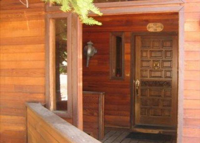 Covered Entry - Alpine Meadows Pine Trail Home - THIS HOME IS RENTED FOR THE 15/16 SKI SEASON - Lake Tahoe - rentals