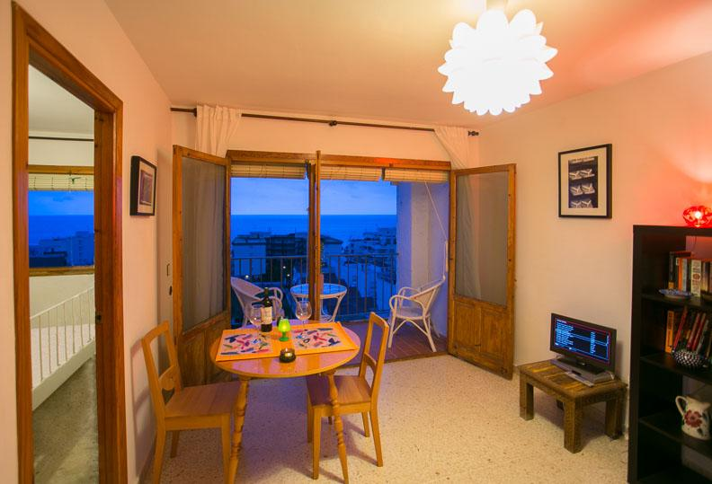 Main room and bedroom - Beach Apartment, La Herradura, Andalucia, Spain - La Herradura - rentals