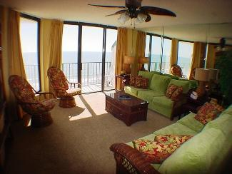 Spacious Living Room - Beach Club III 9C - North Myrtle Beach - rentals