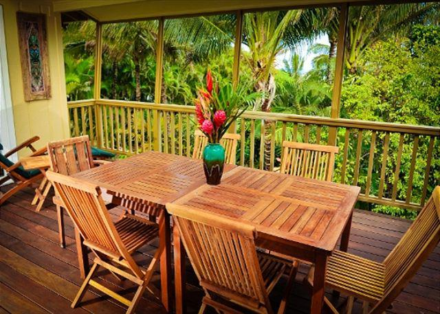 10% off  December - February dates!! Private, Luxury Home Near Tunnels Beach! - Image 1 - Hanalei - rentals