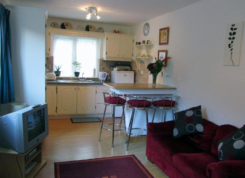 Kitchen and Living Areas - Montbretia - beside Connemara National Park - Letterfrack - rentals
