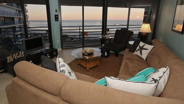 Beautiful Views from Living Room - Ebb Tide 403 - New Smyrna Beach - rentals