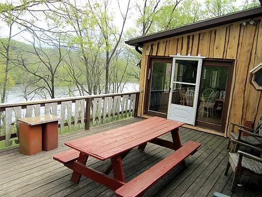 View from Captain's Deck.  800' of private riverfront property with no nieghbors!  Just forest. - Captain's Lodge on the Rapids - Luray - rentals