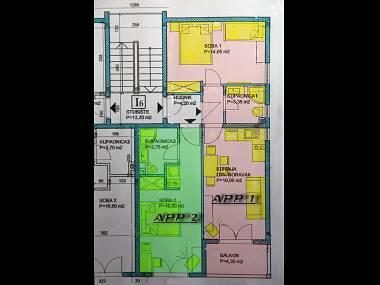 SA2(2): floor plan - 5173  SA2(2) - Stanici - Stanici - rentals