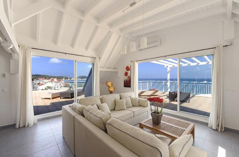 Living room 1 - Oualie Beach - 2 bedrooms in Saint-Martin - Caraïbes - Grand Case - rentals