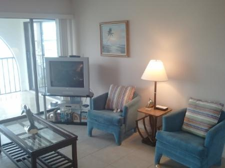 Living Room - Best Waterfront balcony views from this top floor unit  in Popular Island Resort - Marco Island - rentals
