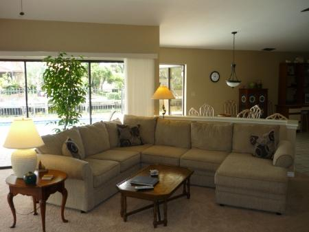 Large living room area - Spacious waterfront Family Vacation Home with direct access to the Gulf - Marco Island - rentals