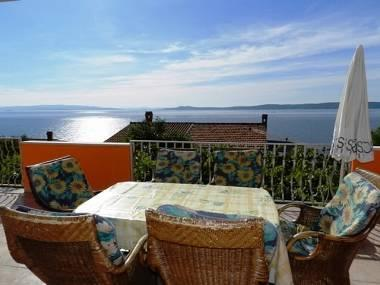 A2(4+2): terrace view - 5141  A2(4+2) - Okrug Gornji - Okrug Gornji - rentals