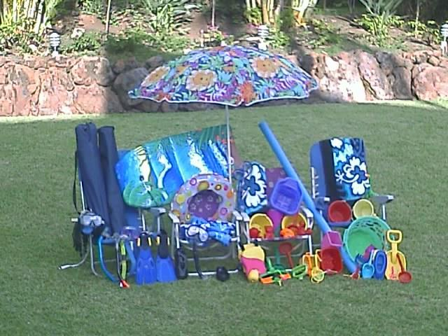 Look at all the beach equipment that comes with this rental! - Special Summer Rates - Maui Banyan 2 BR at Beach - Kihei - rentals