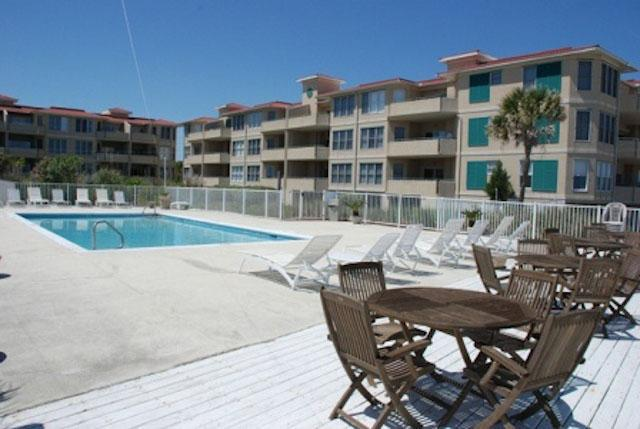 Pool area - Belle of The South unit 101 - prices listed may not be accurate - Tybee Island - rentals