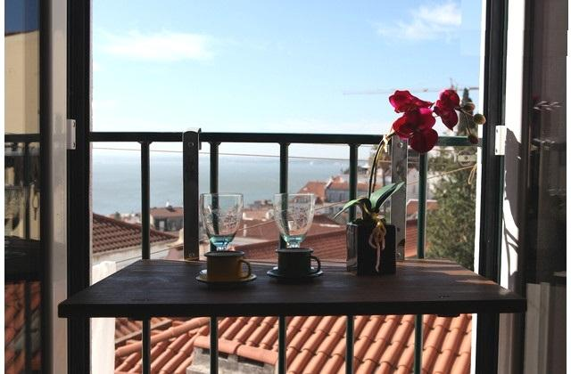 SAO VICENTE II, panorama view from french balcony - Image 1 - Lisbon - rentals