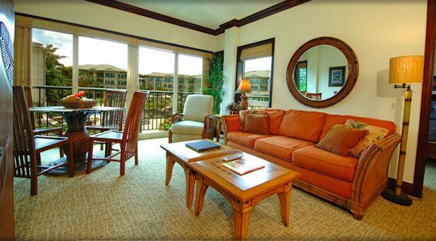 Living Room - Waipouli Beach Resort A201 - Kapaa - rentals