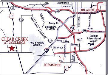 Map Showing Position To Disney! World - 1mi/(website: hidden) - Clermont - rentals