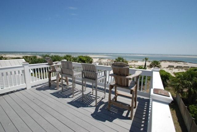 oceanfront porch - 1923 Chatham - prices listed may not be accurate - Tybee Island - rentals