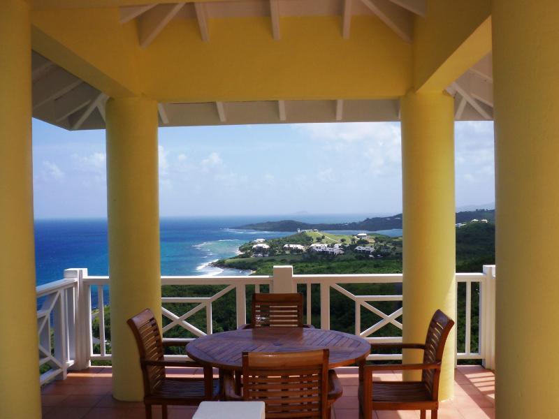 Sunflower outdoor dining - Sunflower Villa - St. Croix hillside villa - Christiansted - rentals